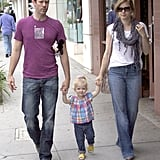 Aviana — the daughter of Amy Adams and Darren Le Gallo — wore a colorful plaid top and bright yellow sandals during a day out in June.