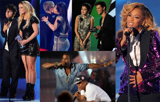 Britney, Beyoncé, Jay-Z, Kanye, Justin and More Make a Memorable VMA Night