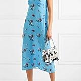 Bernadette Floral-Print Silk Crepe de Chine Midi Dress