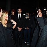 Kanye snapped a picture of Kim Kardashian with Carine Roitfeld after the Givenchy show.