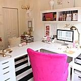 ... White Corner Desk ...
