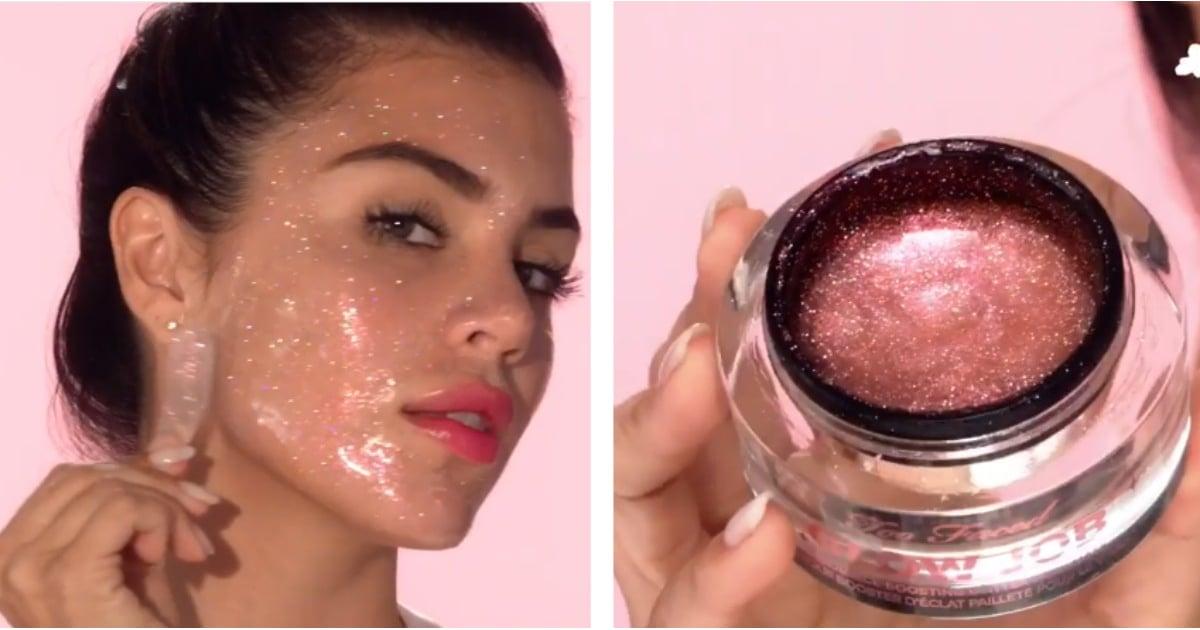 too faced pink glitter glow job mask popsugar beauty. Black Bedroom Furniture Sets. Home Design Ideas