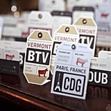 Vintage Luggage Tag Seating Cards