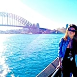 "Selena Gomez posed in front of the Harbour Bridge and said, ""Australia was magical."" Source: Facebook user selenagomez"