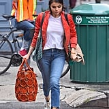 Selena Gomez Makes Schlepping Around More Than 1 Handbag Look So Chic