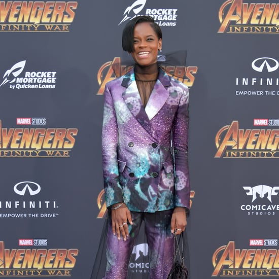 Letitia Wright's Purple Prada Suit