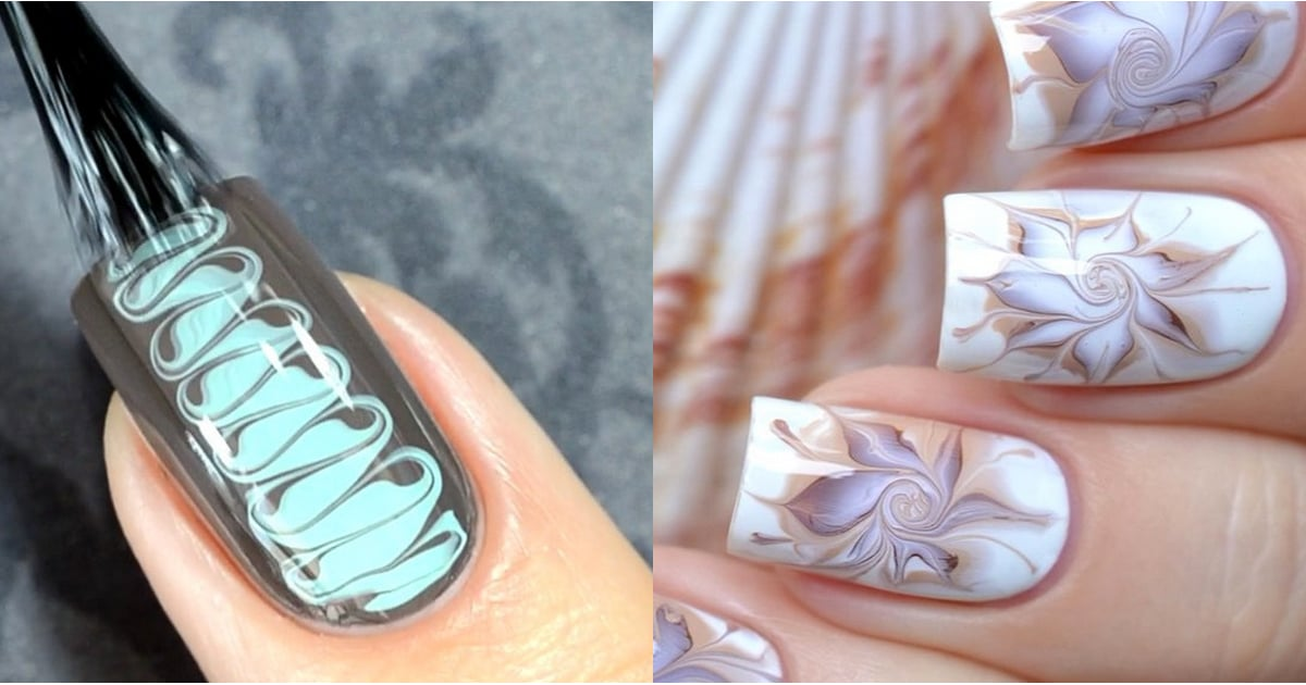 Marble Nail Art Tutorials From Instagram | POPSUGAR Beauty Middle East