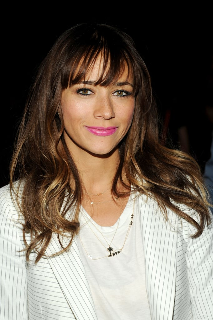 Rashida Jones Celebrity Fringe Hairstyles For Spring Popsugar