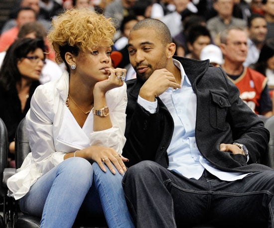 Slide Photo of Rihanna and Matt Kemp at the LA Lakers Game