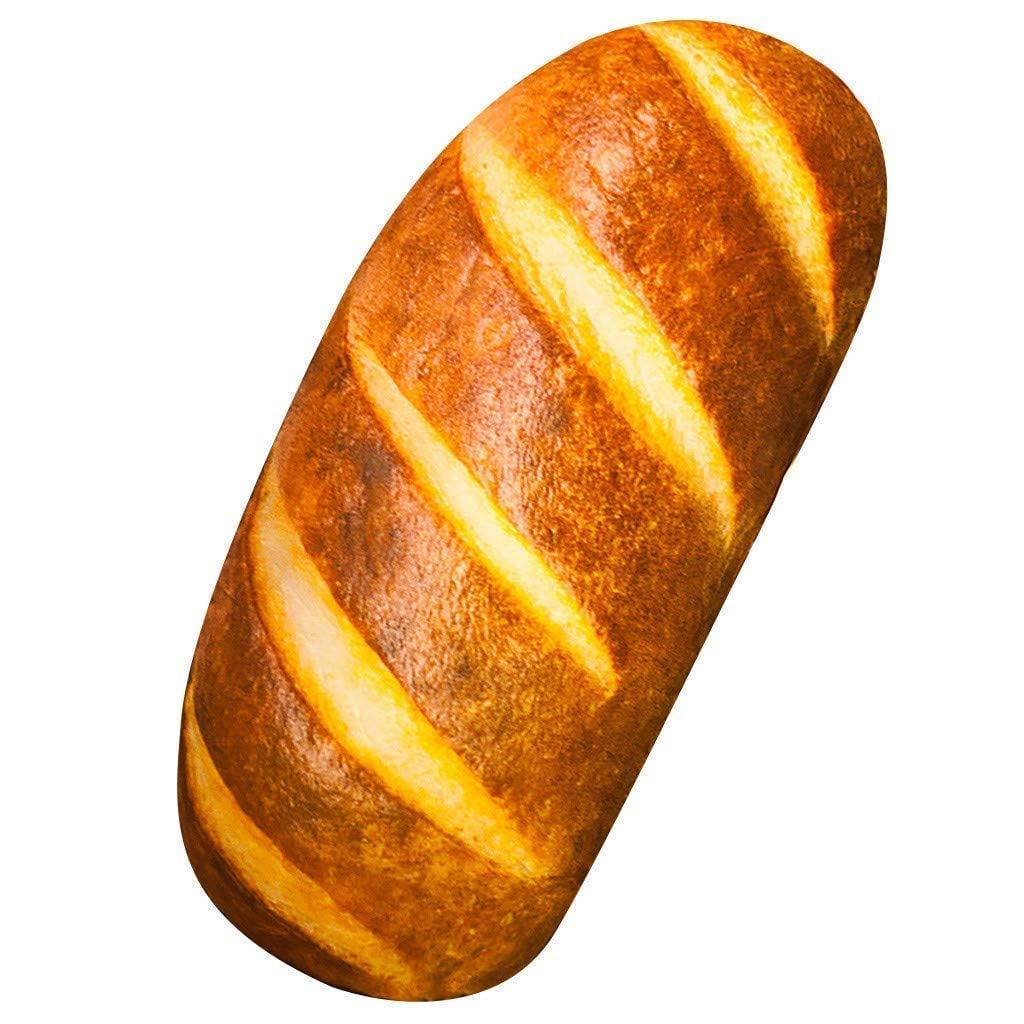 Gecter Funny 3D Simulation Bread Shape Pillow