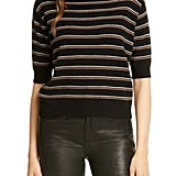 Frame Stripe Cashmere Crop Sweater