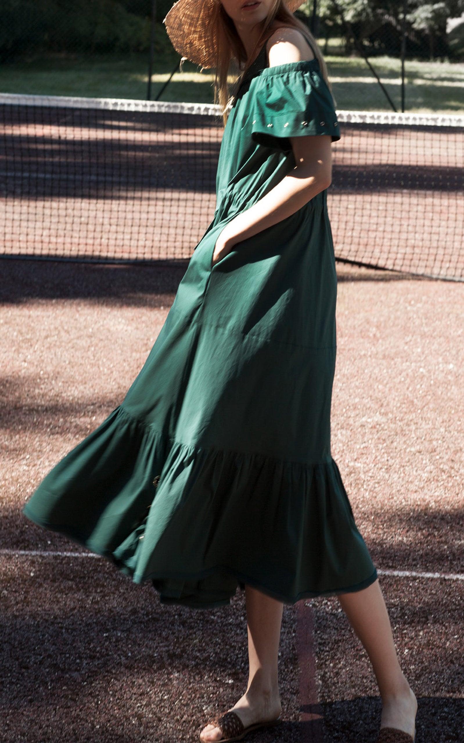 Taylor Swift Green Dress By Free People With Joe Alwyn Popsugar Fashion