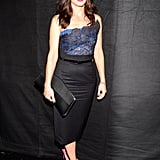Sandra Bullock posed backstage at the People's Choice Awards.