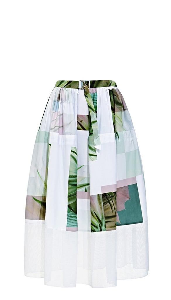 Tibi Printed Full Skirt