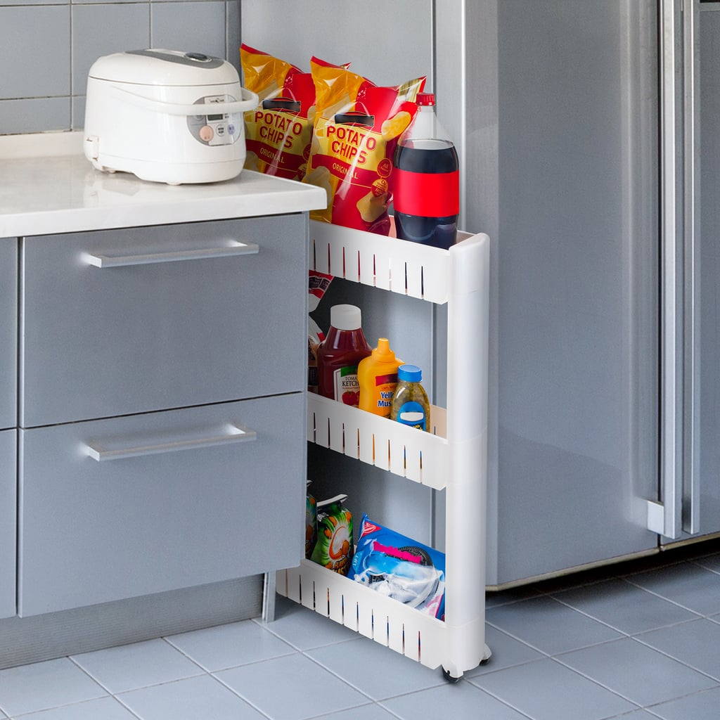A Rolling Cart: Everyday Home Portable Shelving Unit Organizer