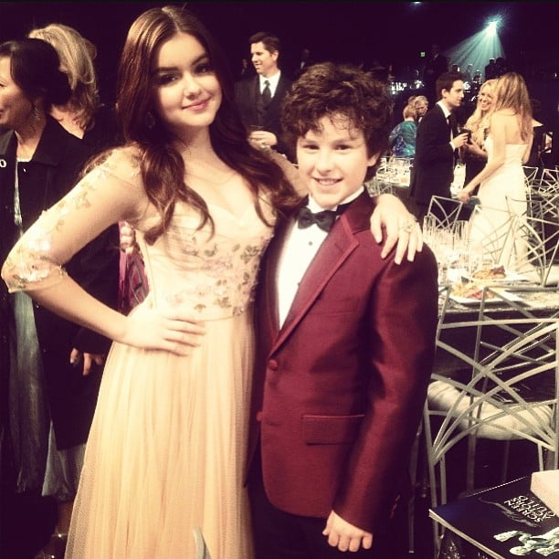 Modern Family's Ariel Winter and Nolan Gould looked ever so cute together. Source: Instagram user arielwinter