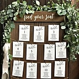 5x7 Wedding Seating Chart Templates