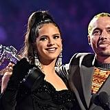 Rosalía and J Balvin at the 2019 MTV VMAs