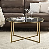 WE Furniture Coffee Table With X Base