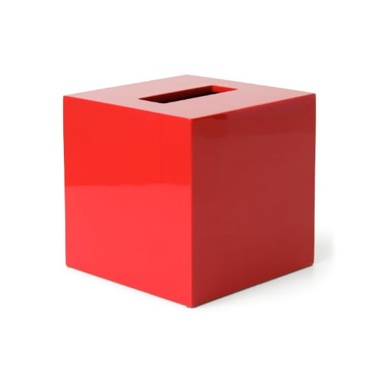 The Jonathan Adler Lacquer Tissue Box Cover ($38) will add a bright, punchy pop of color to your day.