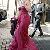 Princess Beatrice chose not to wear a fascinator to the Italian nuptials.