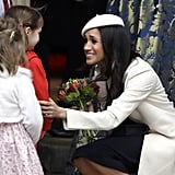 Meghan Markle Talks to Little Girl at Commonwealth Day 2018