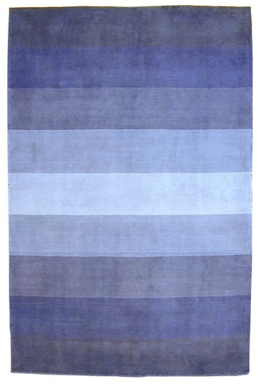 Steal of the Day: Hand-tufted Blue Stripes Wool Rug