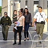 Jennifer Garner took her girls to the show, Anything Goes, in LA.