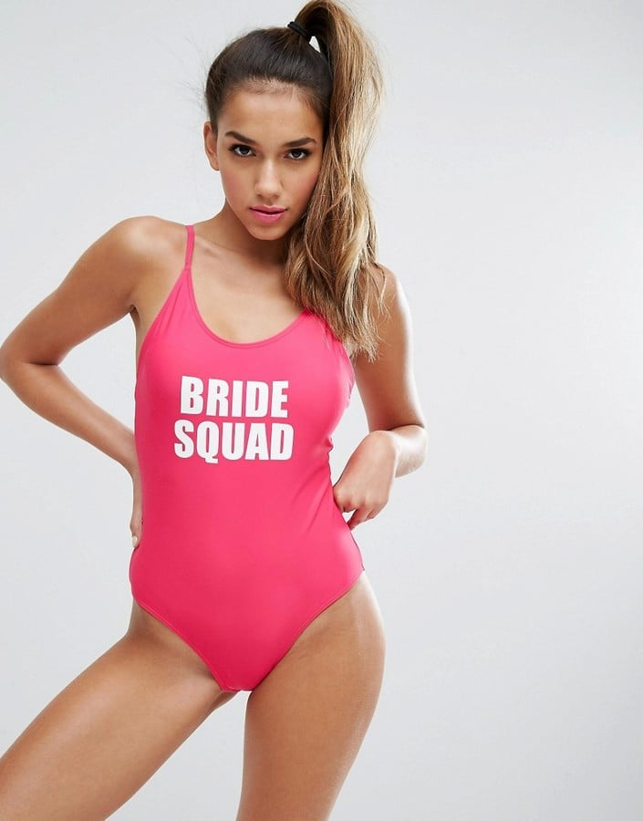 07f404f0aa745 Boohoo Bride Squad Swimsuit   Bachelorette Party Swimsuits ...