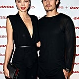 Orlando Bloom and Miranda Kerr both wore black to the event.