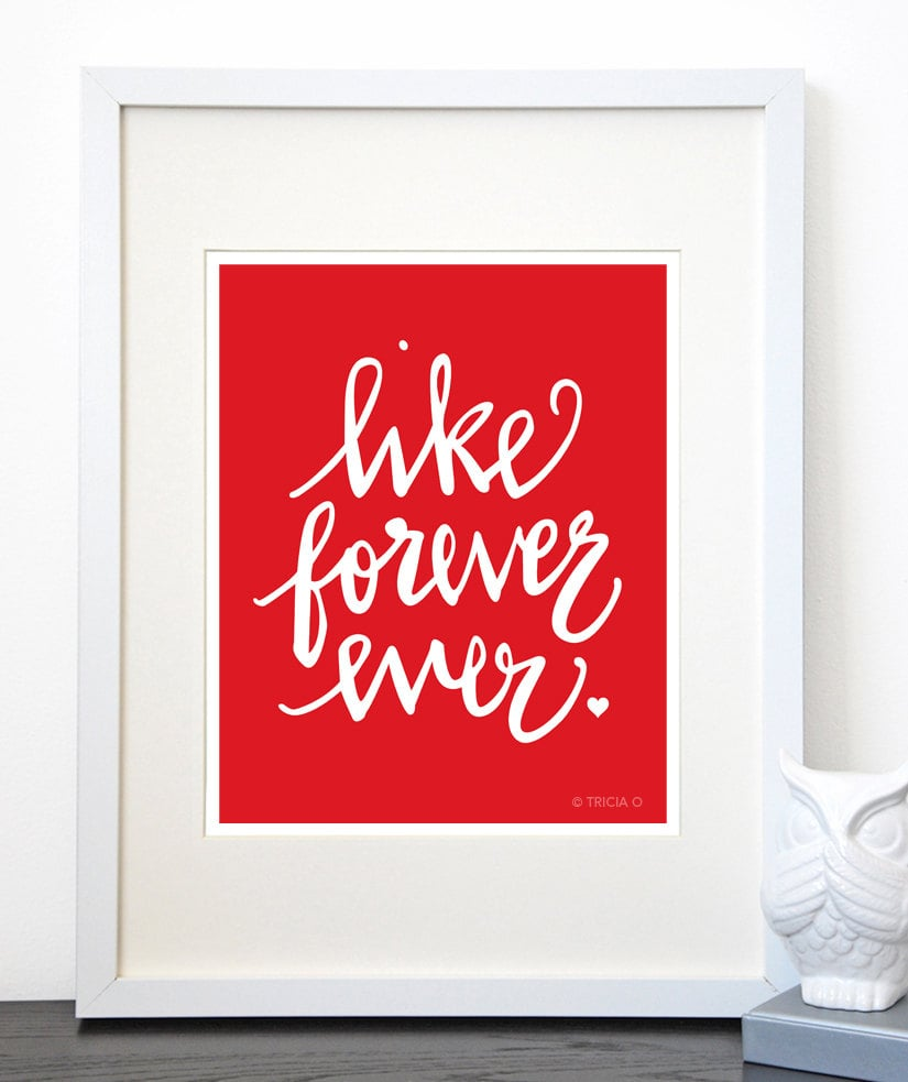 Like forever ever 20 32 love art prints from etsy for Art sites like etsy