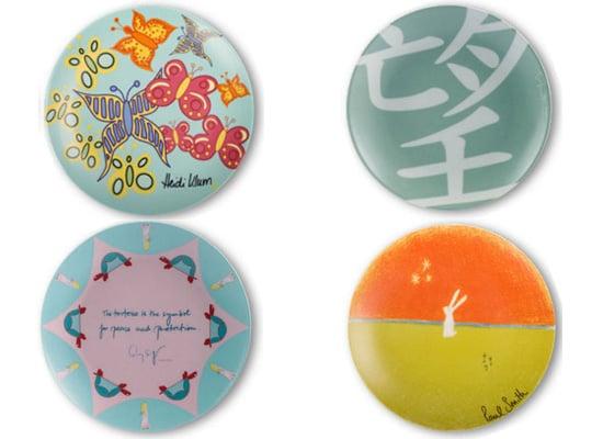 Plates Designed by Giorgio Armani, Heidi Klum, Claudia Schiffer, Paul Smith