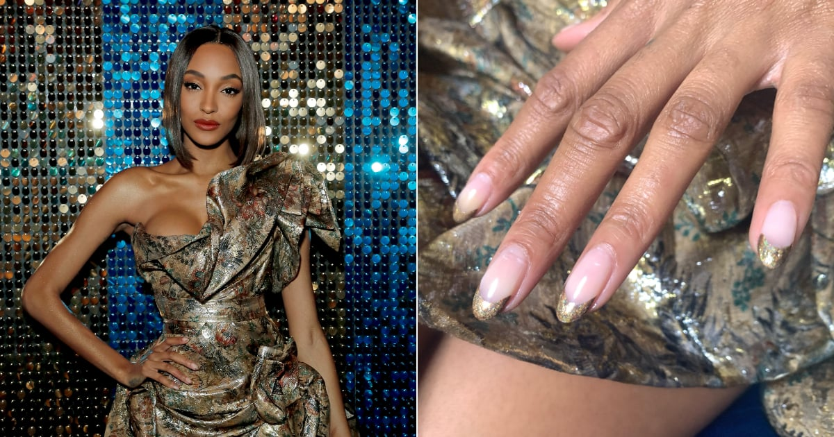 Jourdan Dunn just took the hottest nail art trend of the season and gave it a festive twist at the 2019 British Fashion The British model wore a gold