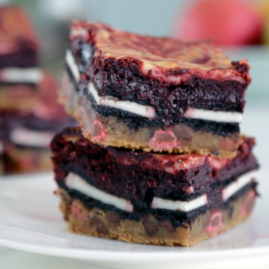 Red Velvet Slutty Brownies