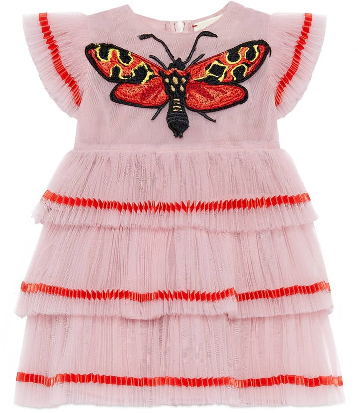 Gucci Baby Tulle Dress With Butterfly