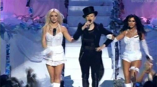2004 MTV VMAs Christina (and Britney Spears and Madonna)