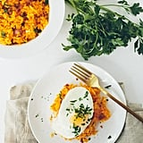 Butternut Squash Breakfast Risotto With Egg and Bacon