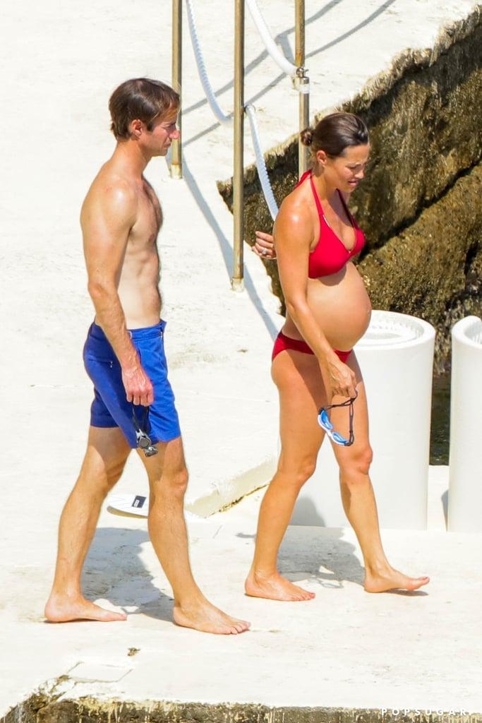 Pippa Middleton Pregnant in Bikini in Italy Pictures 2018