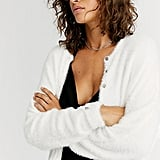 Free People One Allegra Cardi in White