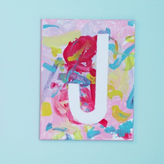 Canvas art projects for kids popsugar moms