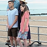 Mr. Robot Filming at Coney Island Pictures 2016