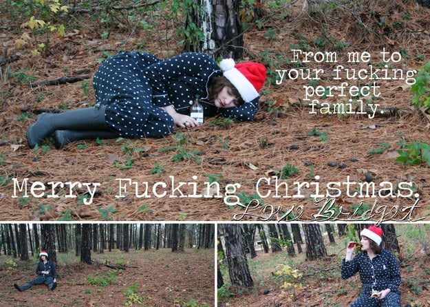 Single Sister Sends Hilarious Christmas Cards