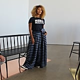 A Graphic Tee and Maxi Skirt Is a Cool, Comfy Combination
