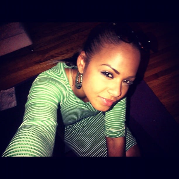 Chistina Milian sported stripes in this photo she shared. Source: Instagram user christinamilian