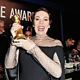 When she showed off her Golden Globe.