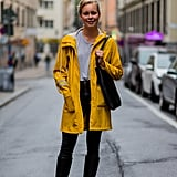 Go Big and Pair Your Yellow Raincoat With Wellies