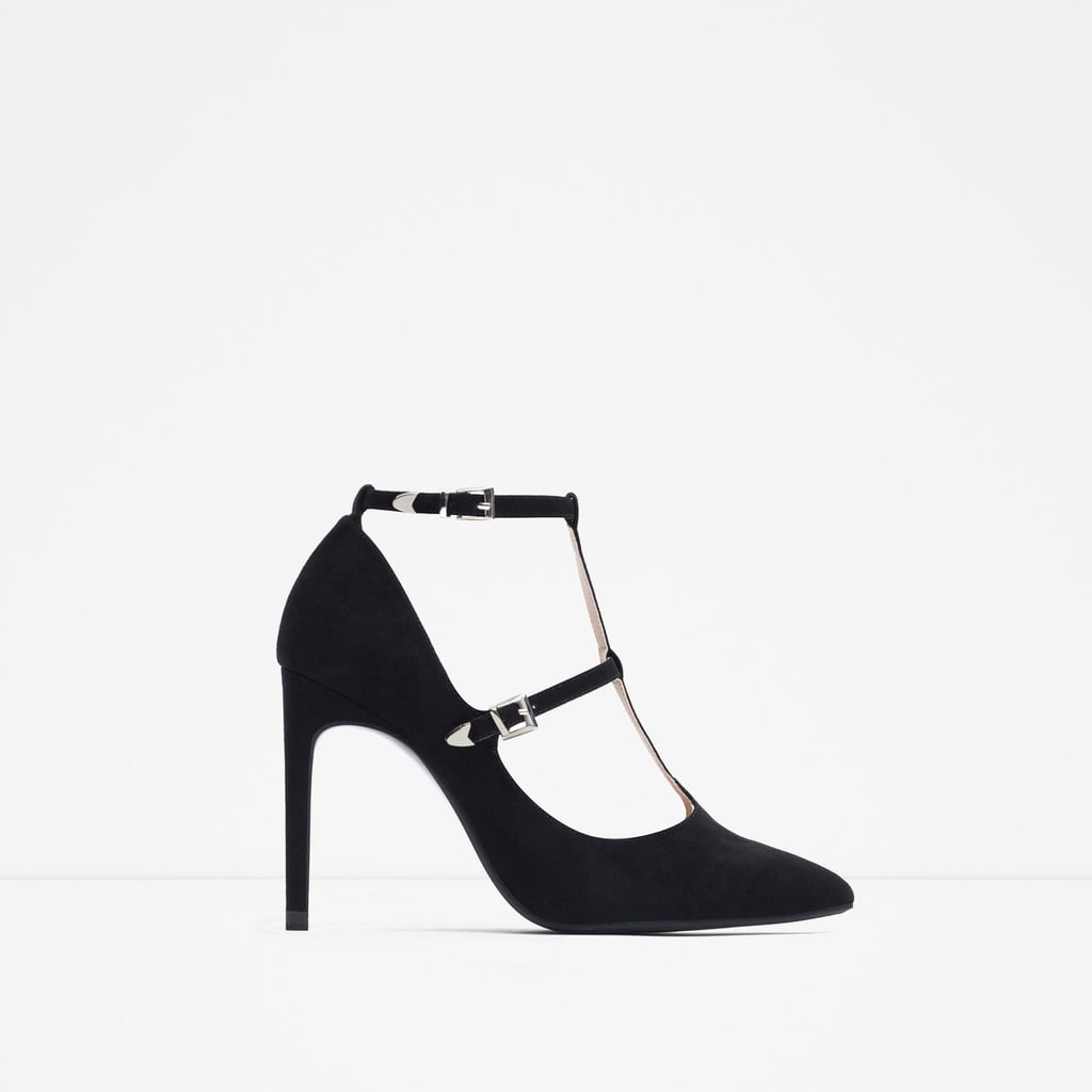 Zara High-Heel Shoes With Ankle Straps (£16)