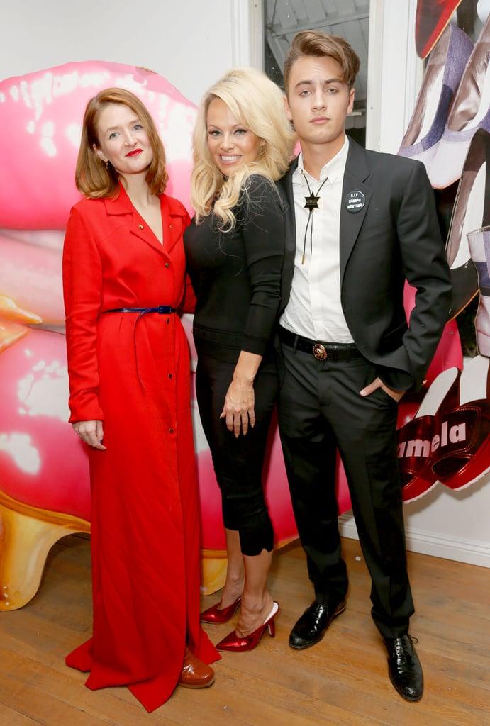 Pamela Anderson and Son Brandon December 2015