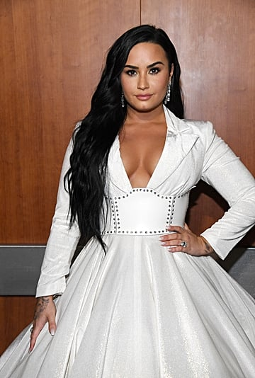 Demi Lovato Red Jelly Nails Engagement Manicure
