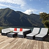 Outsunny Outdoor Patio Rattan Wicker Sofa Sectional and Chaise Lounge Furniture Set